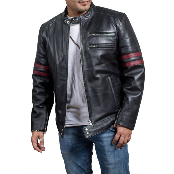 Red Stripes Jacket Being Human Sam witwer