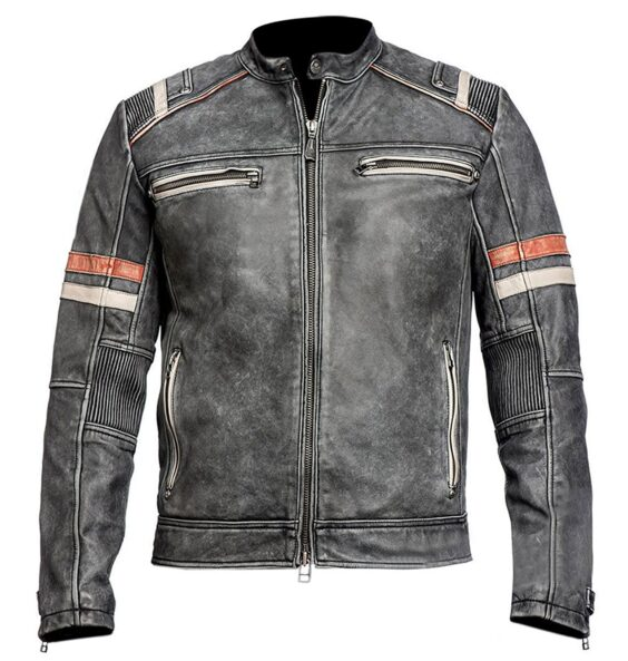 Cafe Racer Retro Leather Jacket