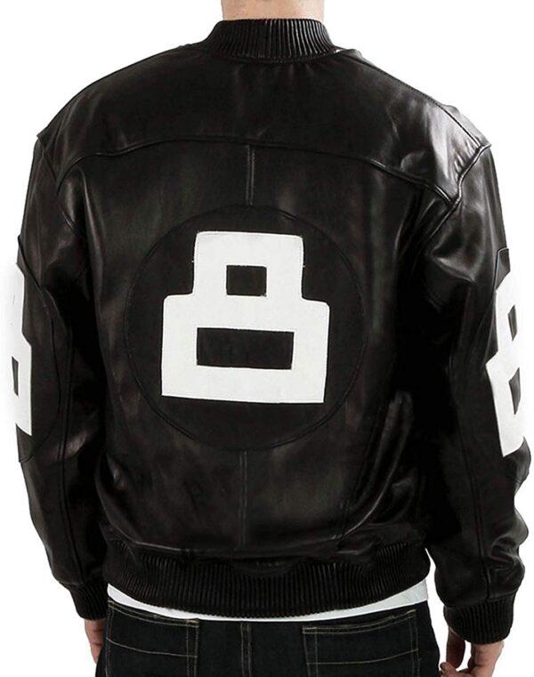 8 ball jacket black leather bomber micheal hoban