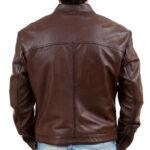 Men's Biker Motorcycle Brown Wax Real Leather Jacket