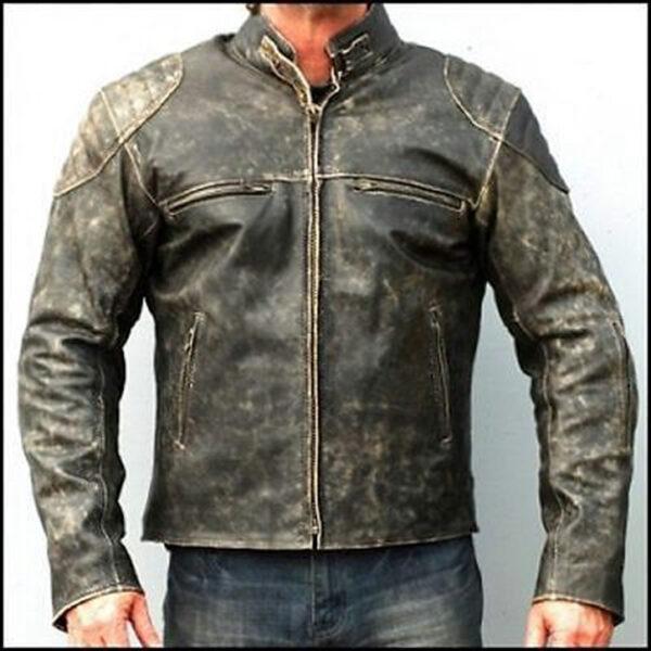 Hooligan distressed leather jacket