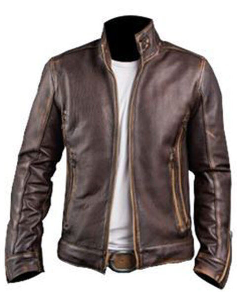 Men's-Cafe-Racer-Biker-Cowhide-Leather-Jacket
