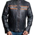 Bill Goldberg Black Biker Leather Jacket