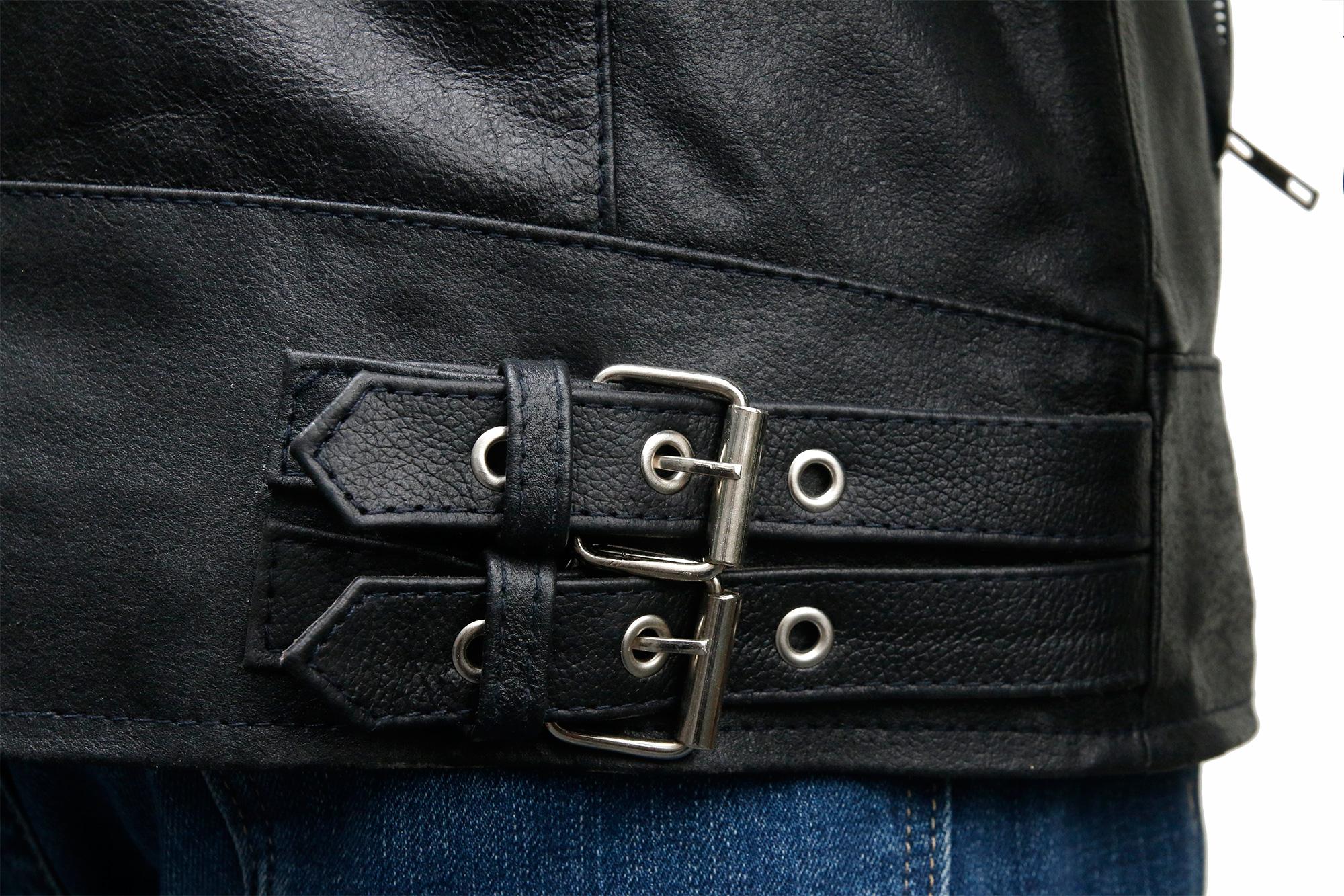 David Beckham Biker Style Leather Jacket