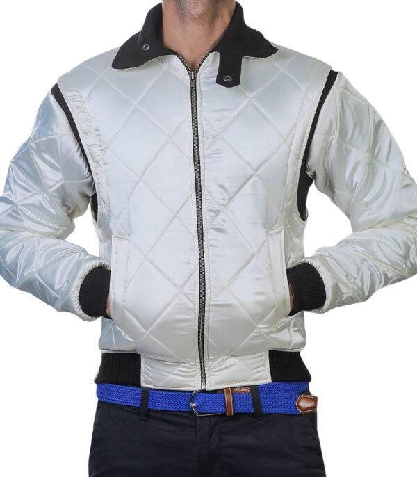 Ryan Gosling Drive Scorpion White Satin Jacket