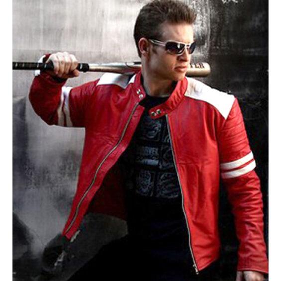 Fight Club Mayhem Biker Leather Jacket