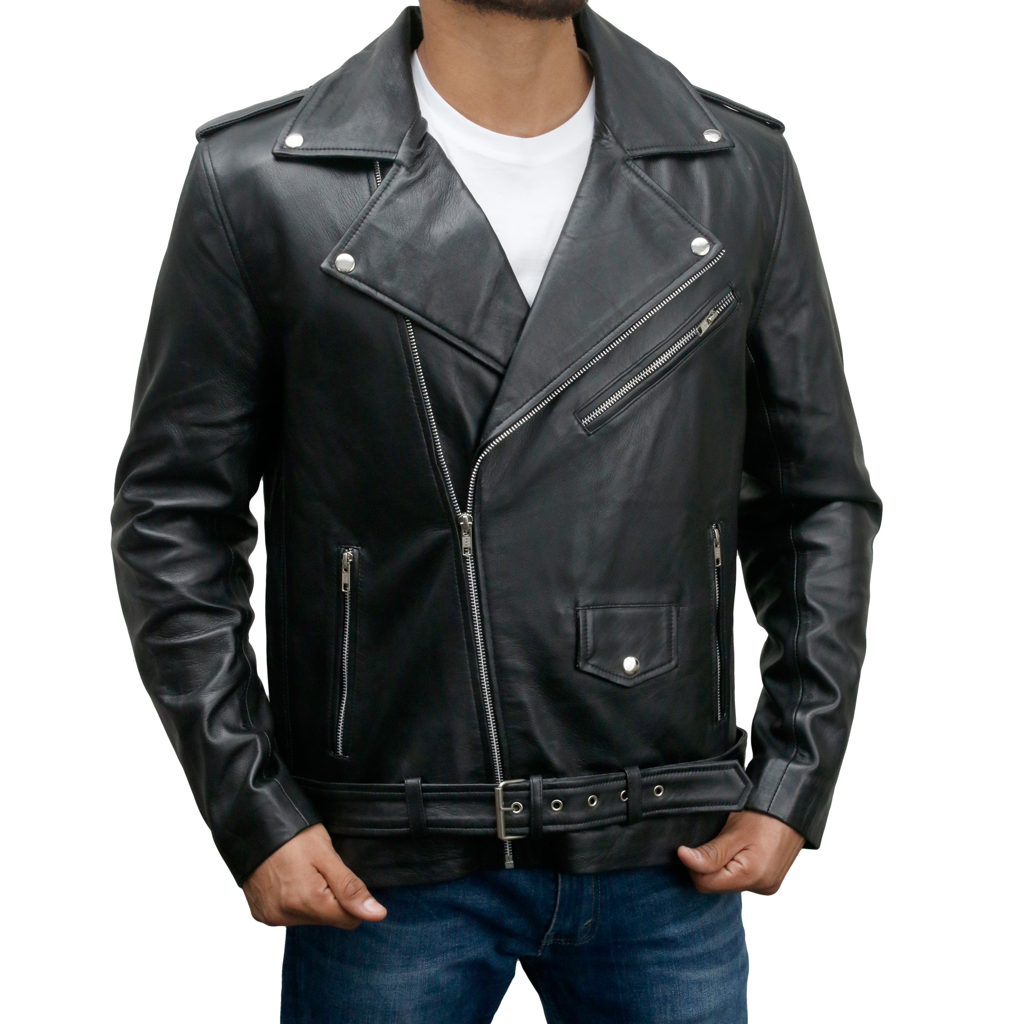 Brando Motorcycle Biker Leather Jacket