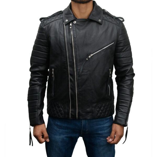 Men's-Vintage-Slim-Fit-Biker-Leather-Jacket