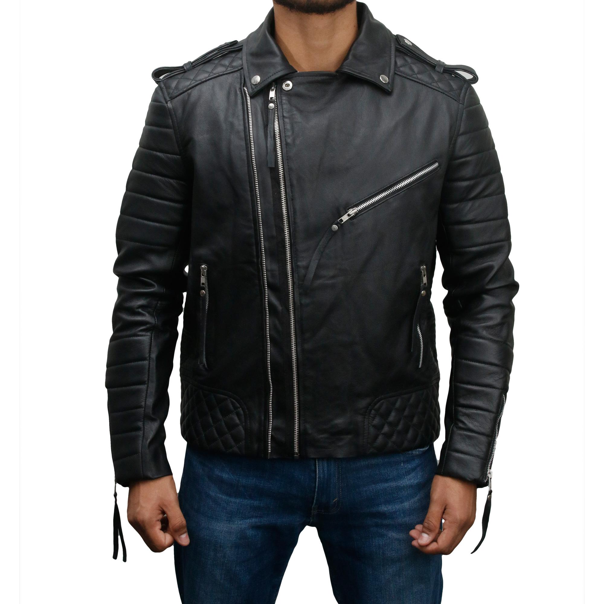 Men's Vintage Slim Fit Biker Leather Jacket