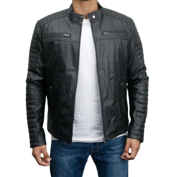 Men's-Faux-Leather-Biker-Slim-Fit-Jacket