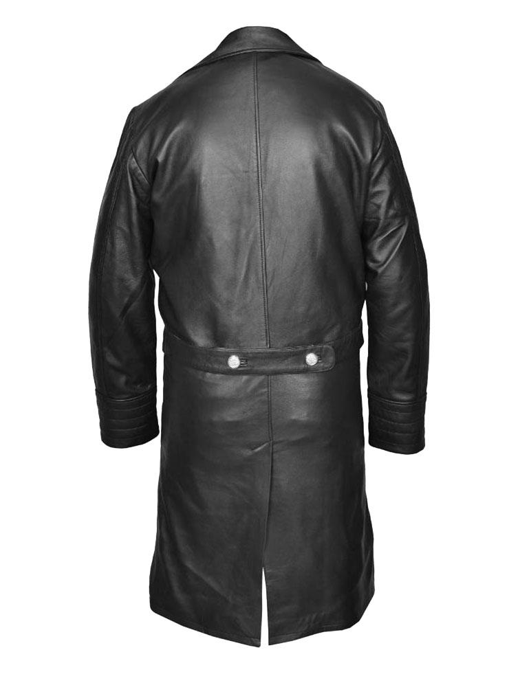 General Major German Military Long Leather Coat