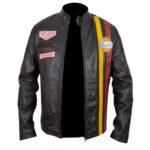 Steve McQueen Grand Prix Gulf Leather Jacket