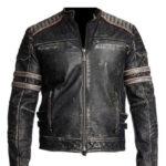 Retro One Cafe Racer Vintage Leather Jacket