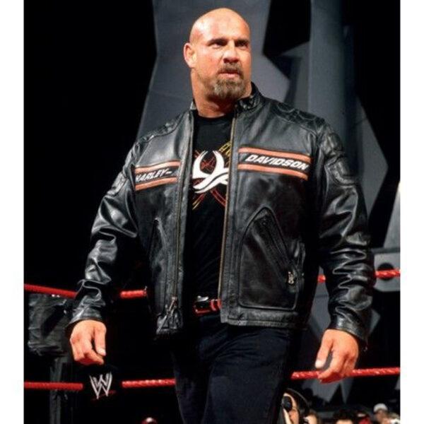 Bill-Goldberg-Harley-Davidson-Black-Biker-Leather-Jacket