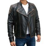 Skull Reinforced Ride Vintage Distressed Leather Jacket