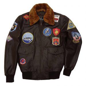 tom cruise top gun bomber leather jacket