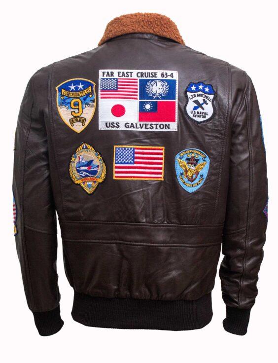 tom cruise top gun maverick bomber leather jacket