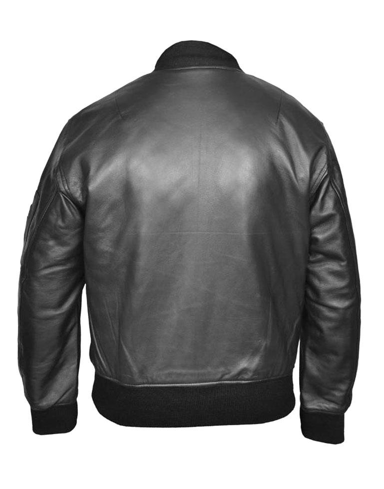 US Air Force MA1 Flight MOD Combat Bomber Leather Jacket