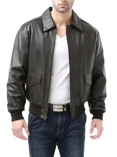 USAF-A2-Flight-Bomber-Black-Leather-Jacket