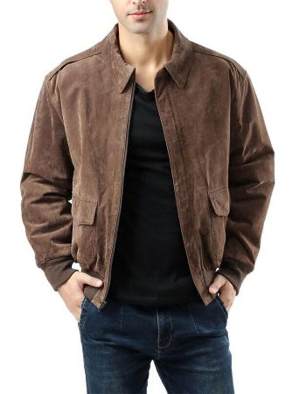 USAF-A2-Flight-Bomber-Brown-Leather-Jacket