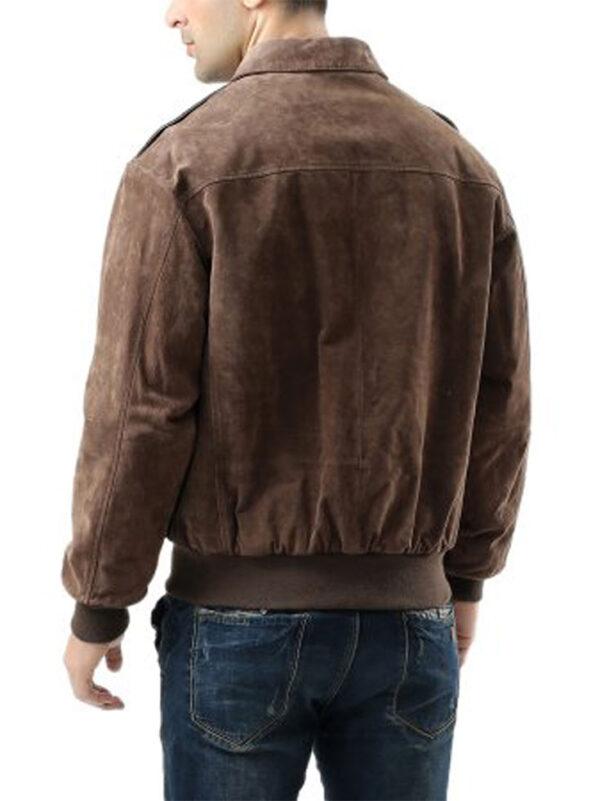 USAF-A2-Flight-Bomber-Brown Leather-Jacket