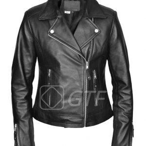 Women's-lambskin-Slim-fit-Leather-Jacket