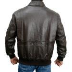 Classic Bomber Leather Jacket