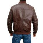 Classic Bomber Soft Italian Nappa Leather Jacket