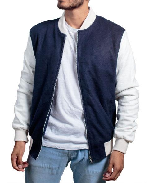 Baby Driver Ansel Elgort Jacket Blue Varsity