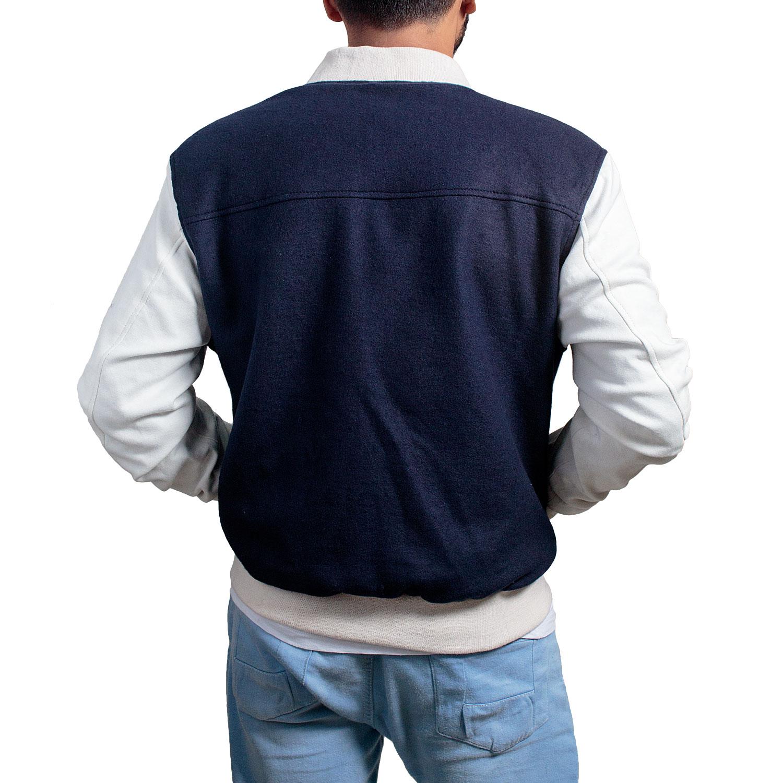 Driver Ansel Elgort Jacket Blue Varsity