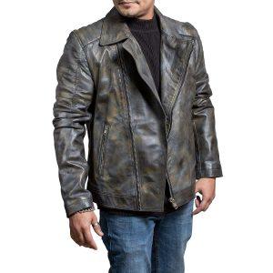xtremejackets brando camouflage biker leather jacket
