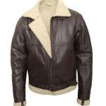 b3 Shearling Leather Bomber Jacket