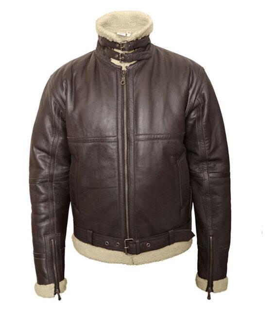 b-3 sheepskin bomber jacket