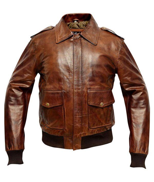 USAF A2 Leather Flight Jacket mens