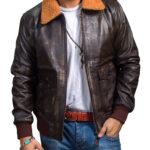 US Navy G 1 Flight Jacket Vintage in Brown Distressed Leather