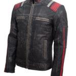 Retro 3 Cafe Racer Leather Jacket