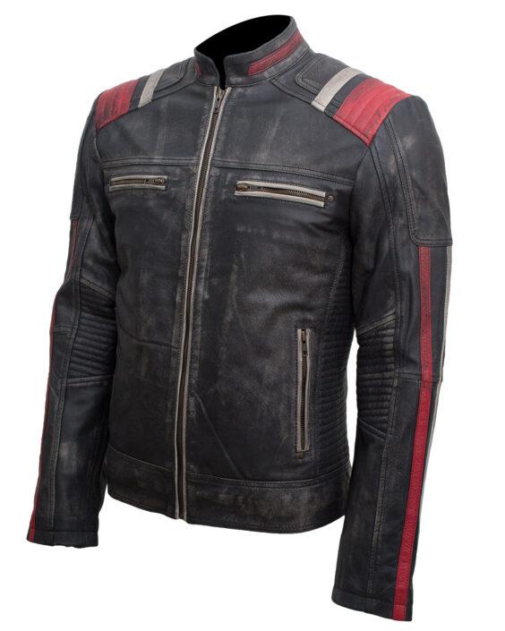 retro cafe racer leather jacket