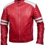 Tyler Durden Jacket – Brad Pitt Fight Club Red Leather Jacket