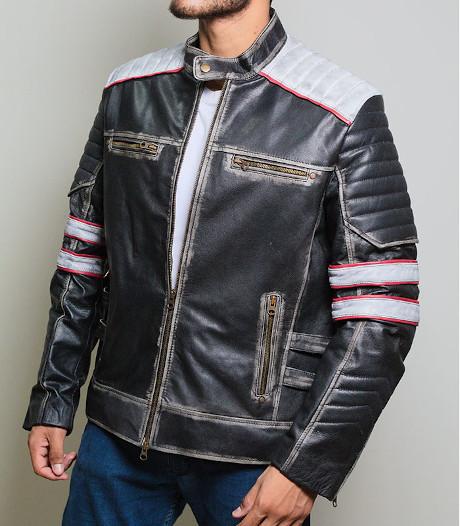 Cafe Racer Leather Jackets Mens